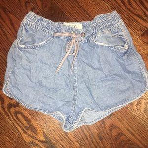 UO jean drawstring shorts